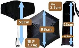 メンズ折りたたみ日傘